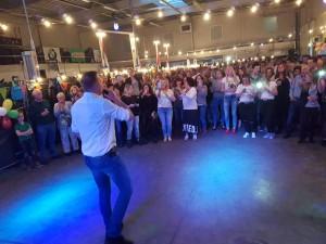 Jannes aan het optreden in Groesbeek